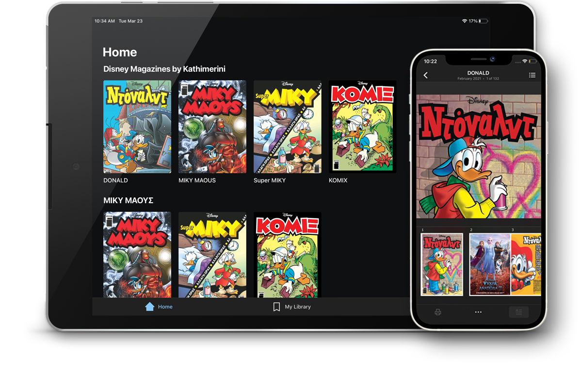 Get your favourite Disney magazines on iPhone®, iPad®, and Android™ platforms.