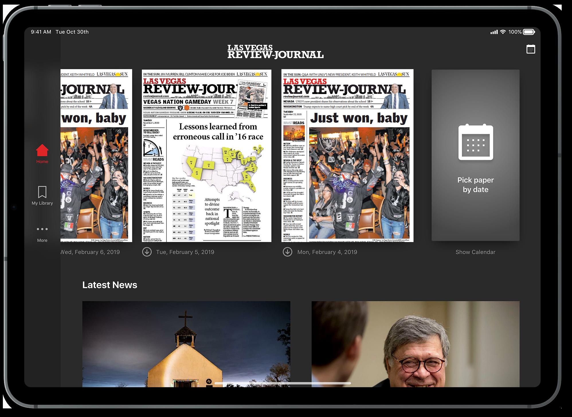 Las Vegas Review-Journal E-Edition tablet app