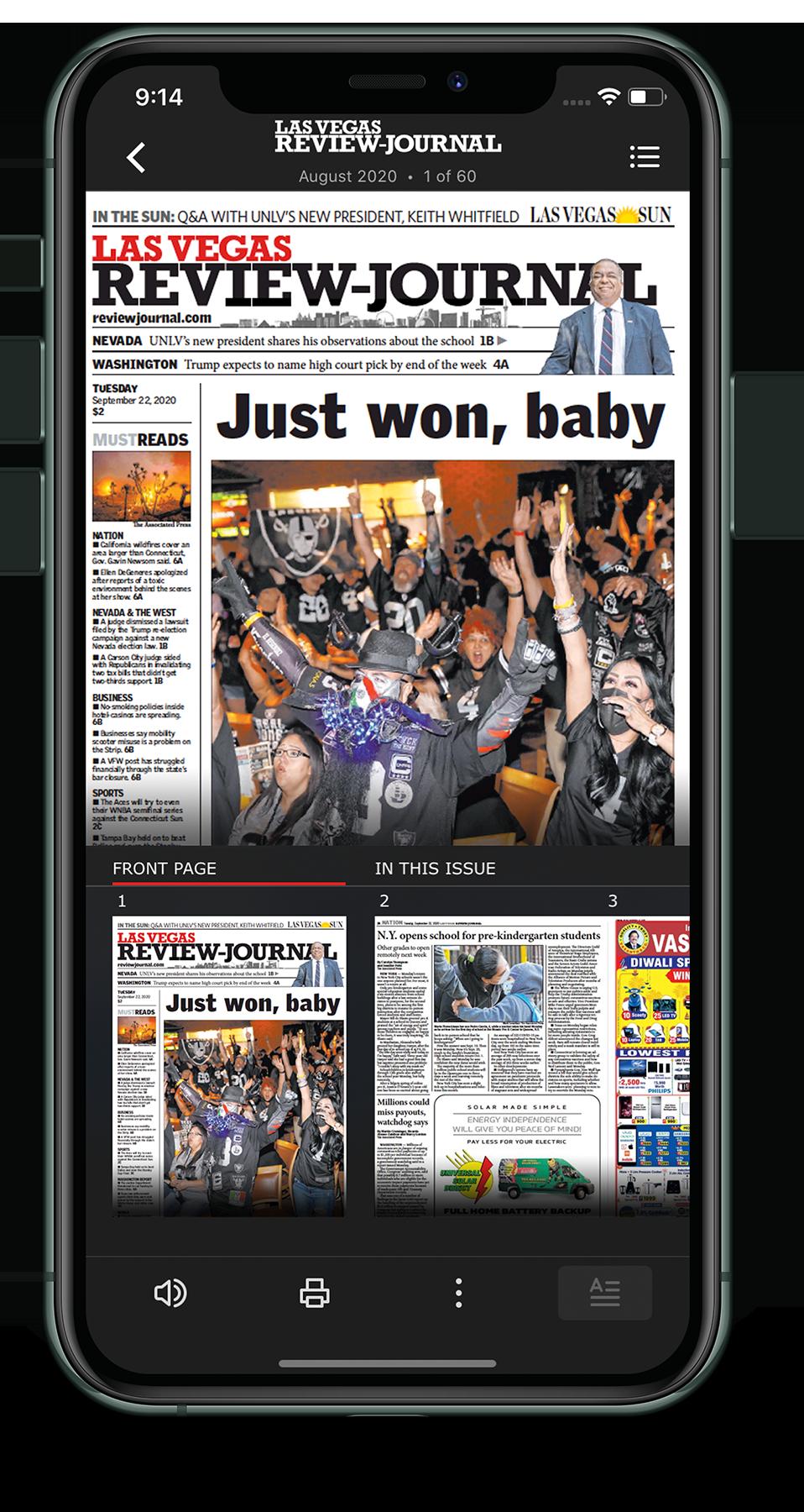 Las Vegas Review-Journal E-Edition iPhone app