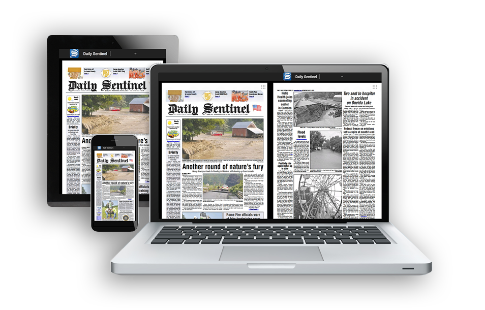 Multiple Viewing Options Available For Reading Your Rome Daily Sentinel Newspaper